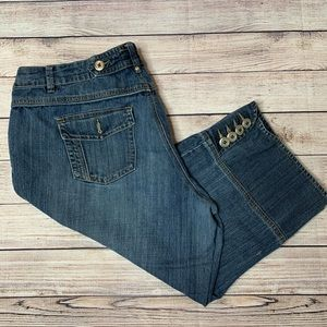 Venezia Lane Bryant Cropped Denim Jeans